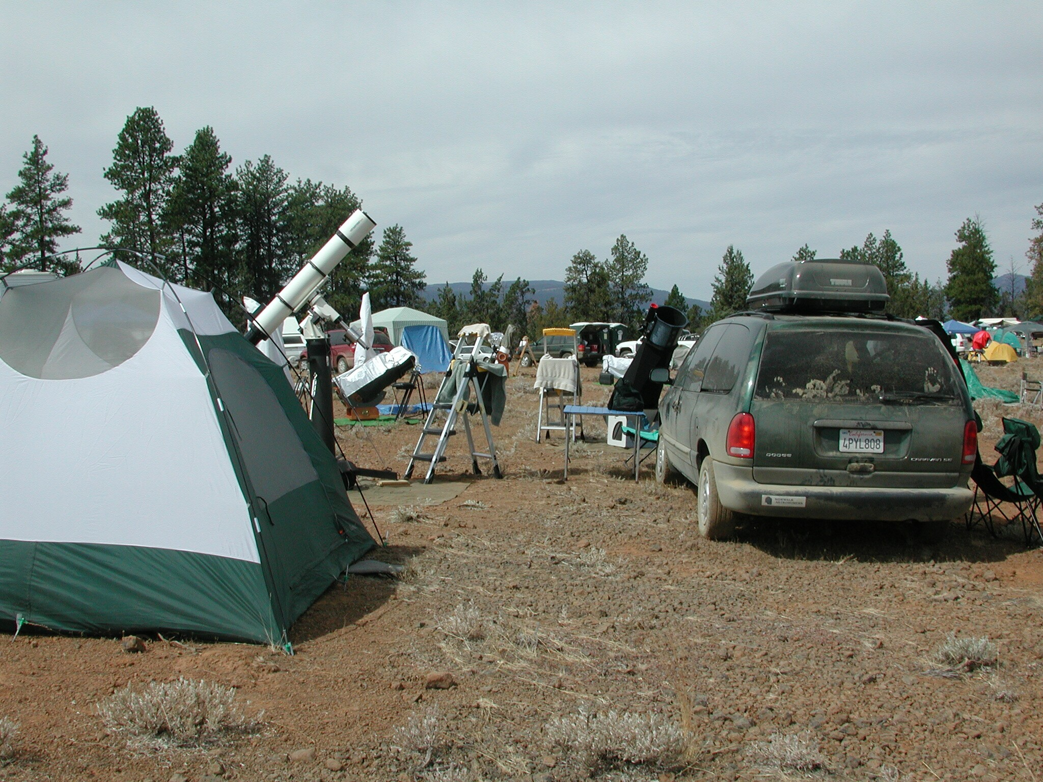 Our tent and telescopes, OSP, Ochoco National Forest, OR