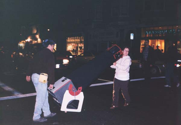Hauling a telescope across the streets of San Francisco about 10 years ago